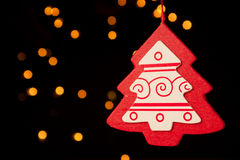 вал красного цвета украшения рождества Стоковое фото RF