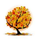 вал листьев осени цветастый Стоковое фото RF