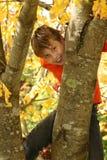 вал мальчика взбираясь стоковое фото