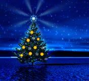вал ночи рождества Стоковые Фото