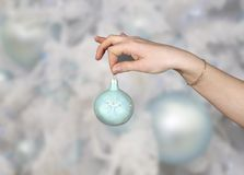 вал орнамента шерсти рождества Стоковые Фото