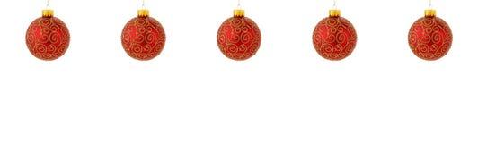 вал орнаментов рождества вися стоковые изображения