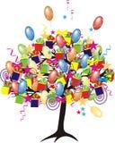 вал партии шаржа baloons Стоковое фото RF
