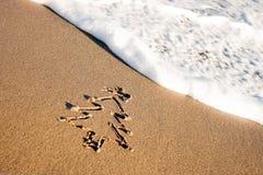 вал песка рождества Стоковая Фотография