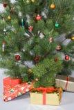 вал подарков детали рождества стоковое фото