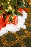 вал подарков на рождество вниз Стоковое Изображение RF