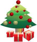 вал подарков на рождество вниз иллюстрация штока