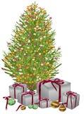 вал подарков рождества вниз Иллюстрация штока