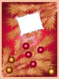 вал праздника рождества предпосылки сверкная Стоковое Изображение