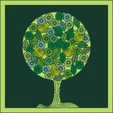 вал птиц зеленый Стоковые Фото