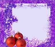 вал рамки рождества шариков Стоковая Фотография