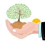 вал растущей руки естественный иллюстрация штока