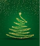 вал рождества золотистый иллюстрация вектора