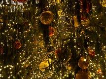 вал рождества золотистый стоковое фото