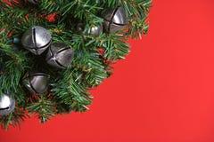 вал рождества колоколов серебряный Стоковые Фото