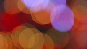 вал светов рождества defocused сток-видео