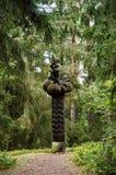 вал скульптуры плотника оси деревянный Стоковые Фотографии RF