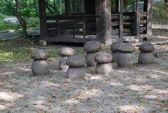 вал скульптуры плотника оси деревянный Стоковая Фотография RF