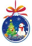 вал снеговика украшения рождества Стоковое фото RF