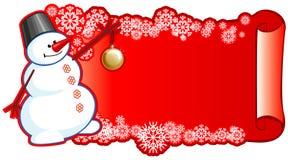 вал снеговика шерсти шарика Стоковое Фото