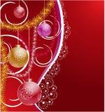 вал украшений рождества предпосылки Стоковые Фото