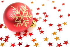 вал украшений рождества шарика Стоковое Фото
