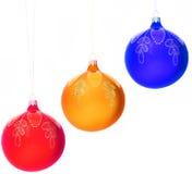 вал украшений рождества шариков Стоковые Фото