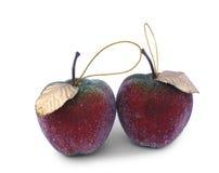вал украшений рождества яблок стоковые фото