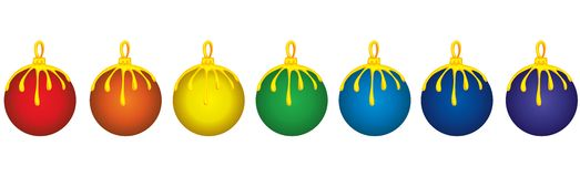 вал украшений рождества Иллюстрация вектора