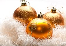 вал украшения рождества золотистый Стоковые Изображения RF