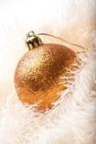 вал украшения рождества золотистый Стоковая Фотография