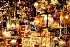 вал украшения рождества золотистый Стоковые Фотографии RF