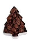вал формы ели кофе фасолей Стоковые Изображения RF
