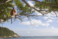 вал человека пляжа Стоковое фото RF