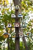 вал birdhouses стоковые изображения