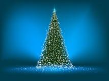 вал eps абстрактного голубого рождества 8 зеленый Стоковые Изображения