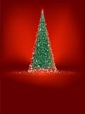 вал eps абстрактного рождества 8 зеленый красный Стоковая Фотография RF