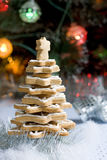 Вал gingerbread рождества Стоковая Фотография