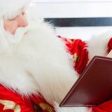 вал santa рождества сидя стоковая фотография rf