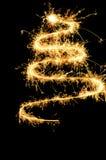вал sparklers chistmas Стоковое фото RF