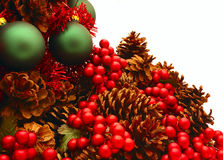 вал tree3 красной серии рождества глянцеватый Стоковые Фото