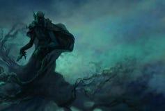 Вампир в ночном небе Стоковое Изображение