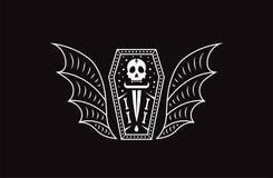 Вампир гроба черепа Иллюстрация вектора черепа логотипа иллюстрация штока