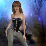 Вампир женщины фантазии Стоковое Фото