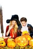 Вампир и ведьма Стоковая Фотография