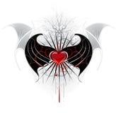 вампир красного цвета сердца иллюстрация вектора