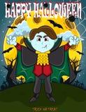 Вампир на счастливый хеллоуин с предпосылкой стоковое фото rf