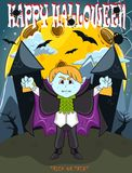 Вампир на счастливый хеллоуин с предпосылкой стоковые фото