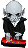 Вампир на хеллоуине Стоковые Фото