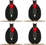 Вампир с сердцем Иллюстрация штока